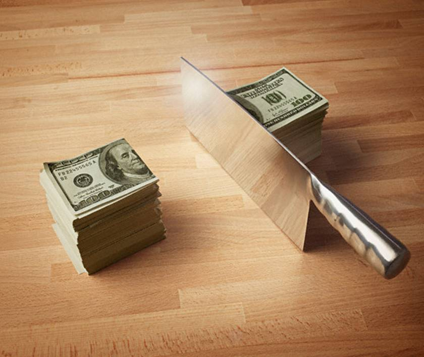 Image result for cutting money to budget